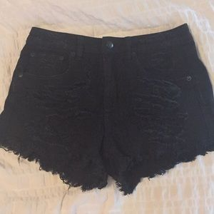 American Eagle Outfitters Shorts - Black Jean High Rise Festival Shorts from AE